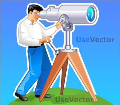 "FREE vector illustration: ""Navigator looks forward through the."