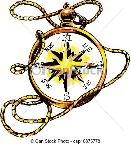 Vectors Illustration of Classic Compass.