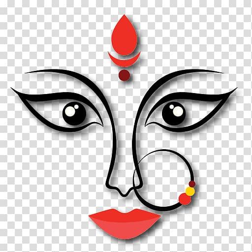 Red face tattoo , Navaratri alt attribute Garba , Navratri.