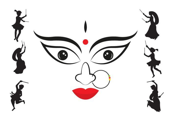 Vector Illustration of Navratri.