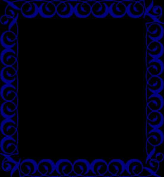 Navy blue border clip art.