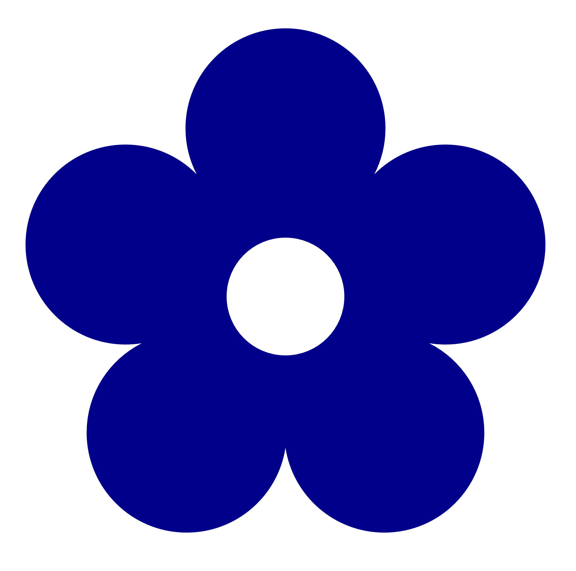 Navy Flower Clipart.
