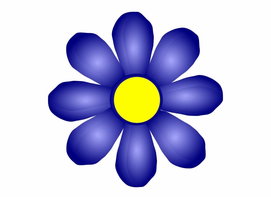 Purple Rose Clipart Navy Blue.