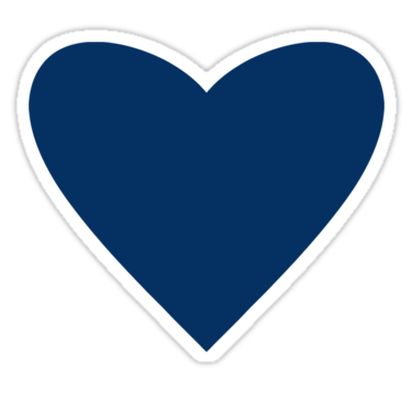 Navy blue heart clipart.