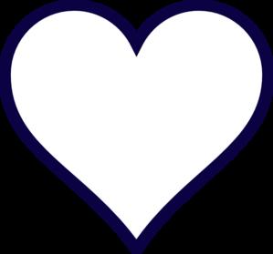 Navy Blue Heart Clipart.