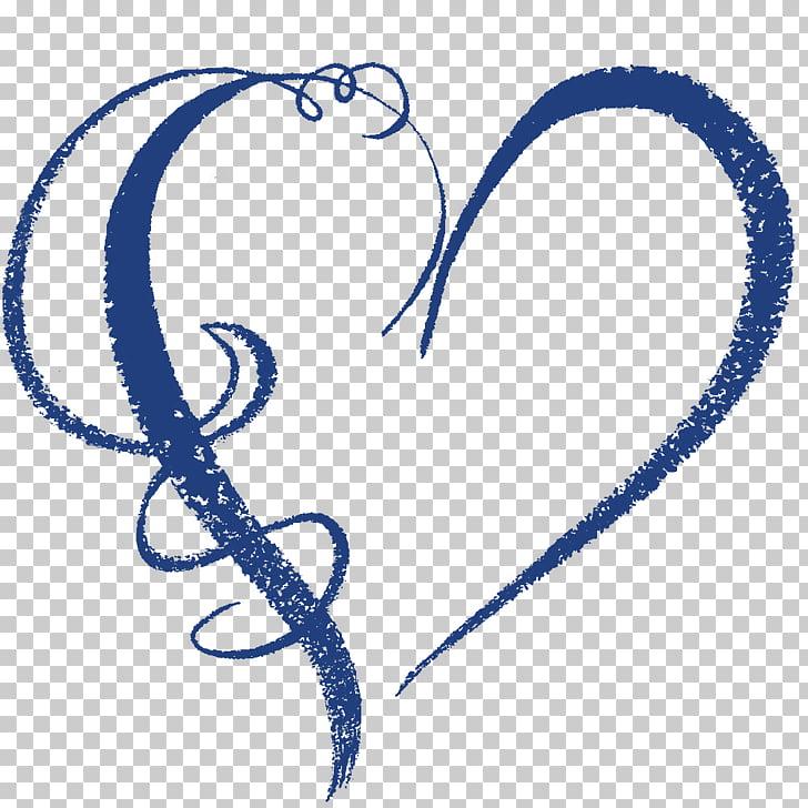 Heart Navy blue Light blue , graphic artist PNG clipart.