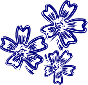 Dark Blue Rose Clipart.
