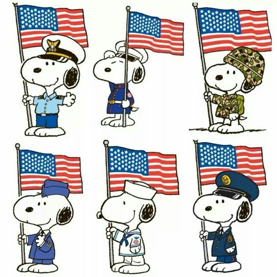 Veterans Day Clipart Showing Army Navy Air Force Marines.