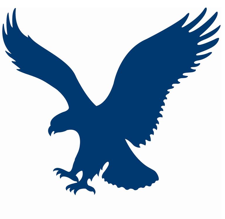 Blue eagle clipart.
