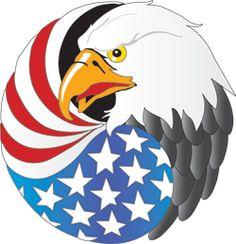 Navy color eagle clipart.