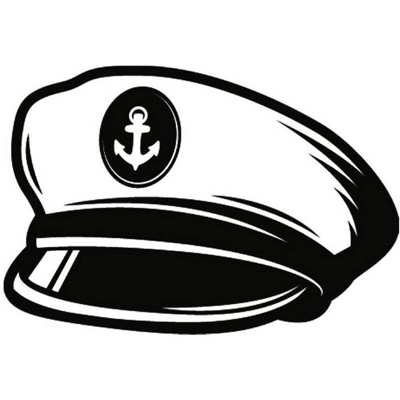 Captain Hat #4 Naval Navy Ship Boat Cap Uniform Clothes Outfit Nautical  Sailing Fishing Boating Logo.SVG .EPS .PNG Vector Cricut Cut Cutting.