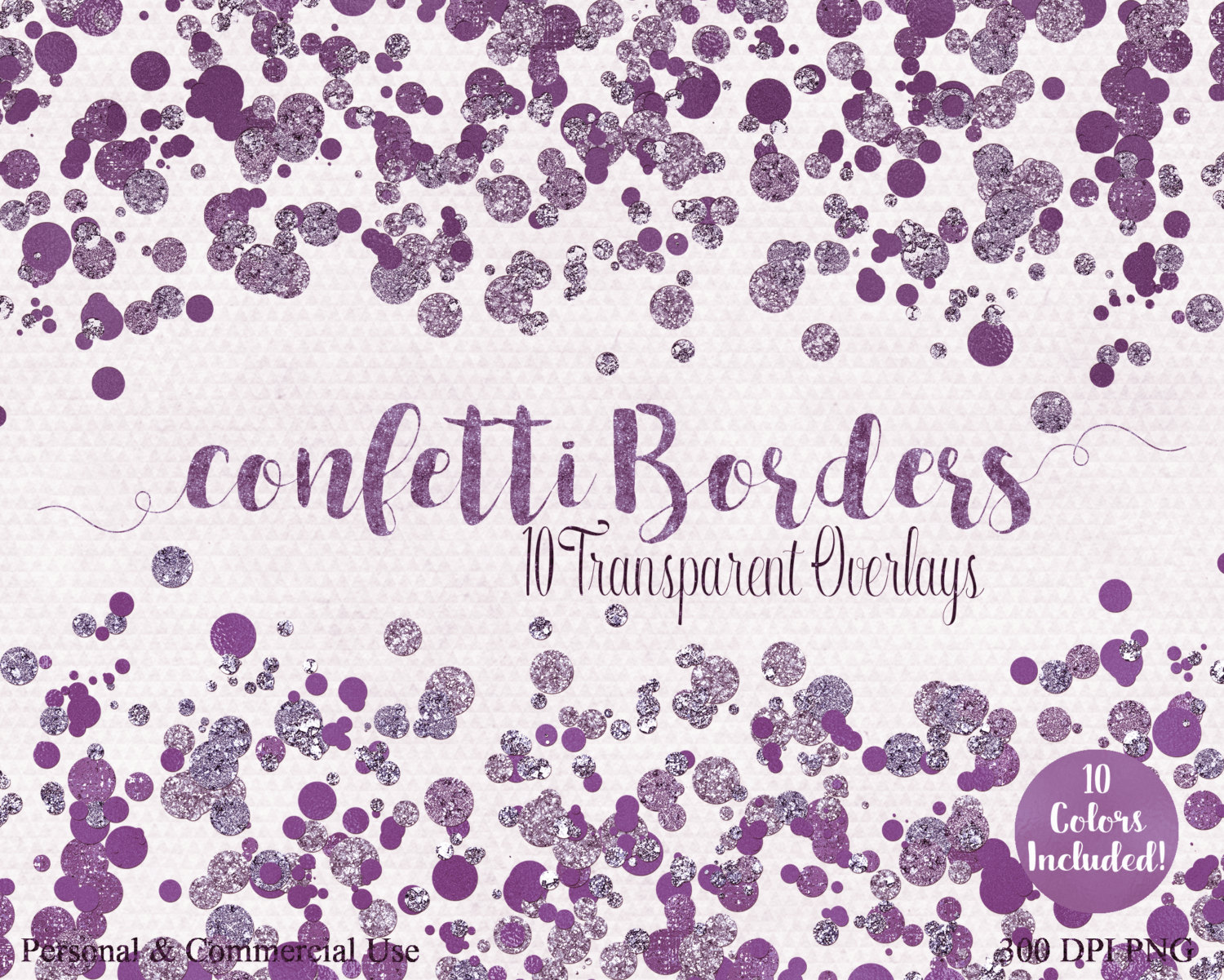 GEM CONFETTI BORDERS Clipart Commercial Use Clip art 10.
