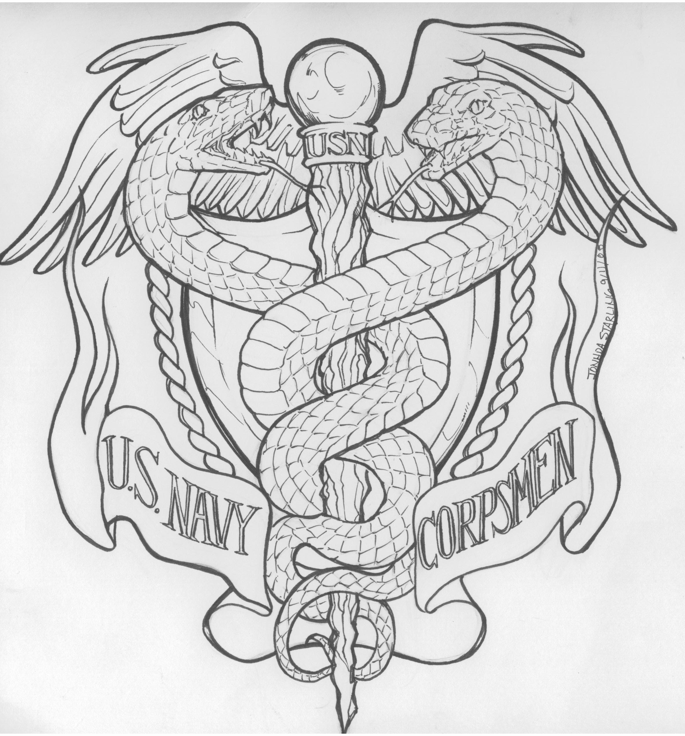 Navy Corpsman Tattoos.