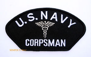 CORPSMAN HAT JACKET PATCH US NAVY MARINES DOC MEDIC FMF PIN UP USS.