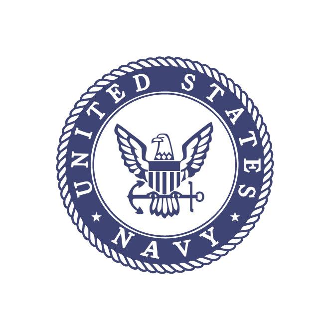 Vector emblem of American Navy.