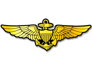 Details about 3x6 inch GOLD Navy Aviator Wings Sticker.