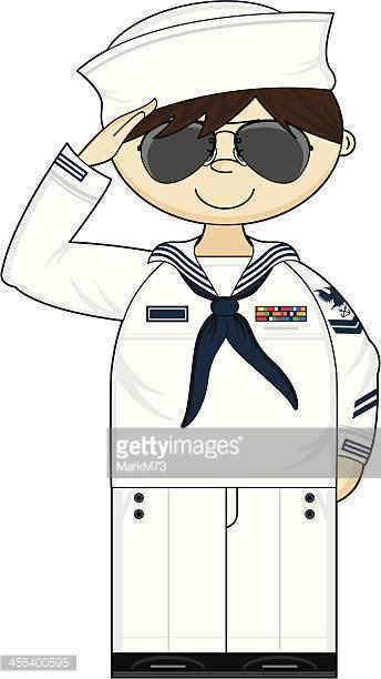 Ww2 Russian Navy Sailor Vector Art.