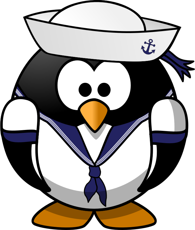 Image for Sailor Penguin Animal Clip Art.