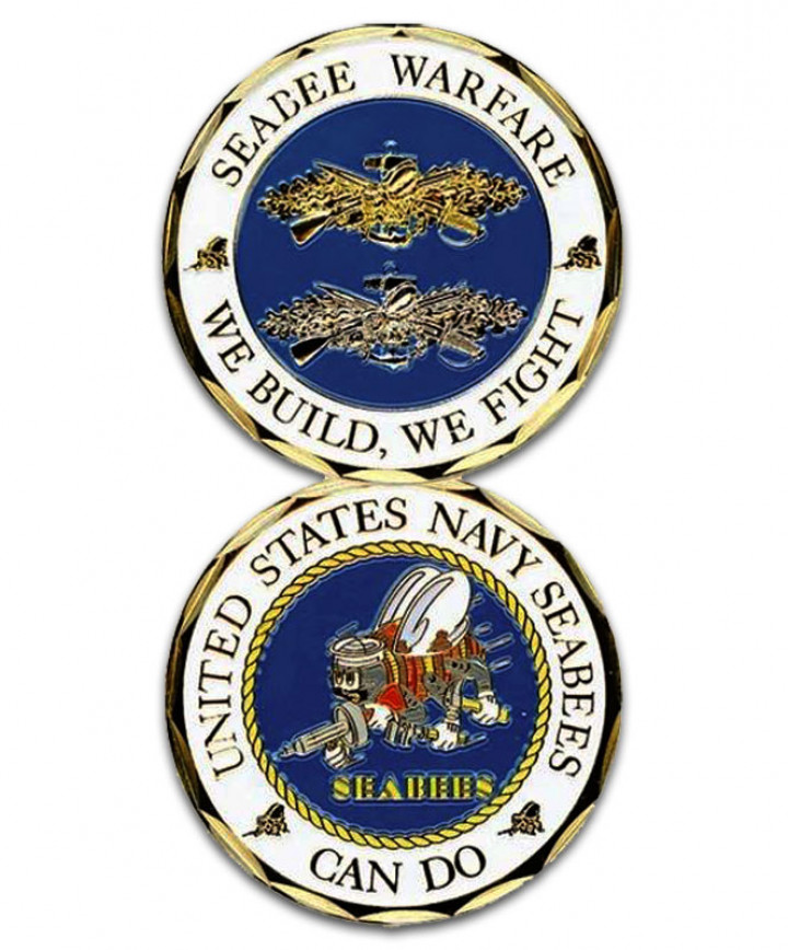 Seabees Challenge Coin.