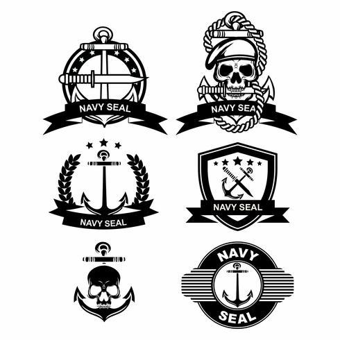 Navy Seal Badge Vectors.