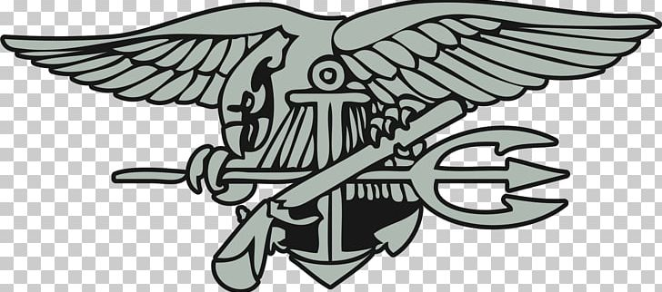 United States Navy SEALs Special Warfare Insignia PNG.