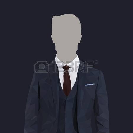 Navy Man Business Suit Clipart.