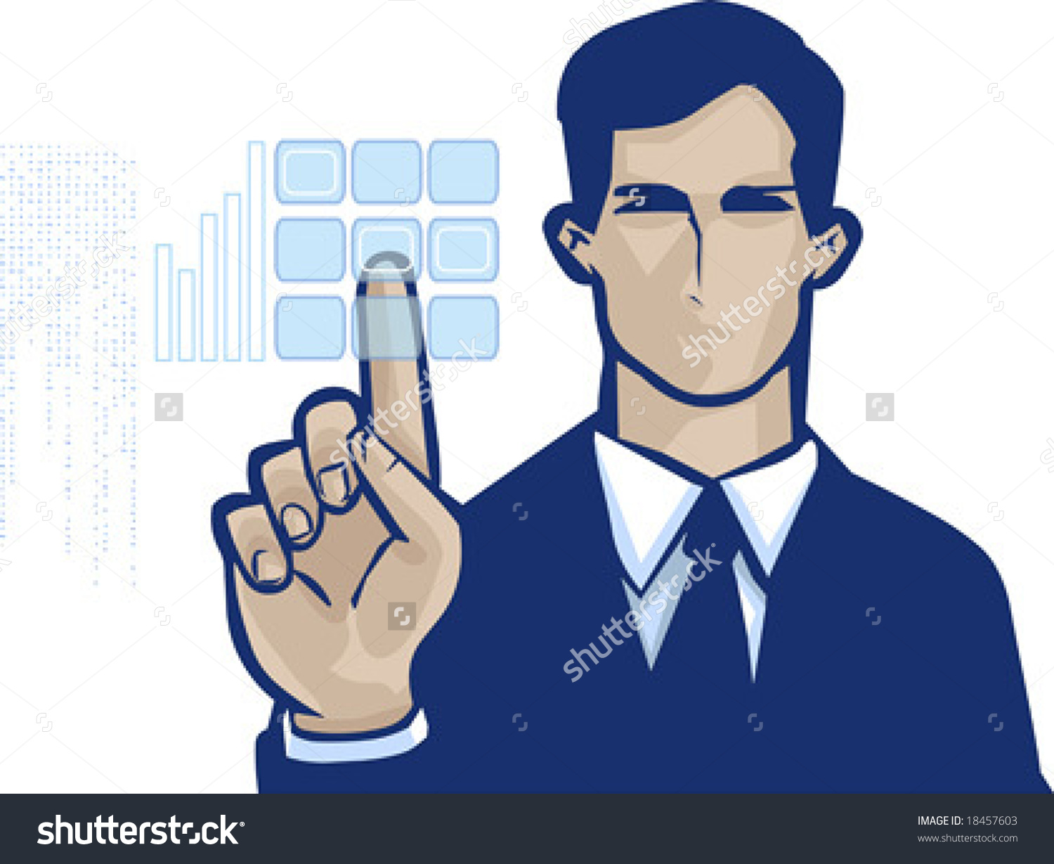 Navy man business suit for canada clipart.