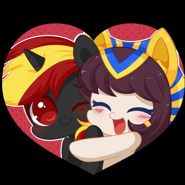 Lovely hug Nawa n Blood fire by Exceru.