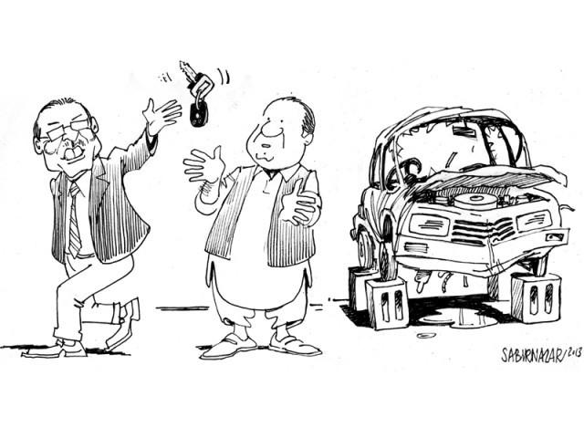 zardari hands over broken country to nawaz sharif.