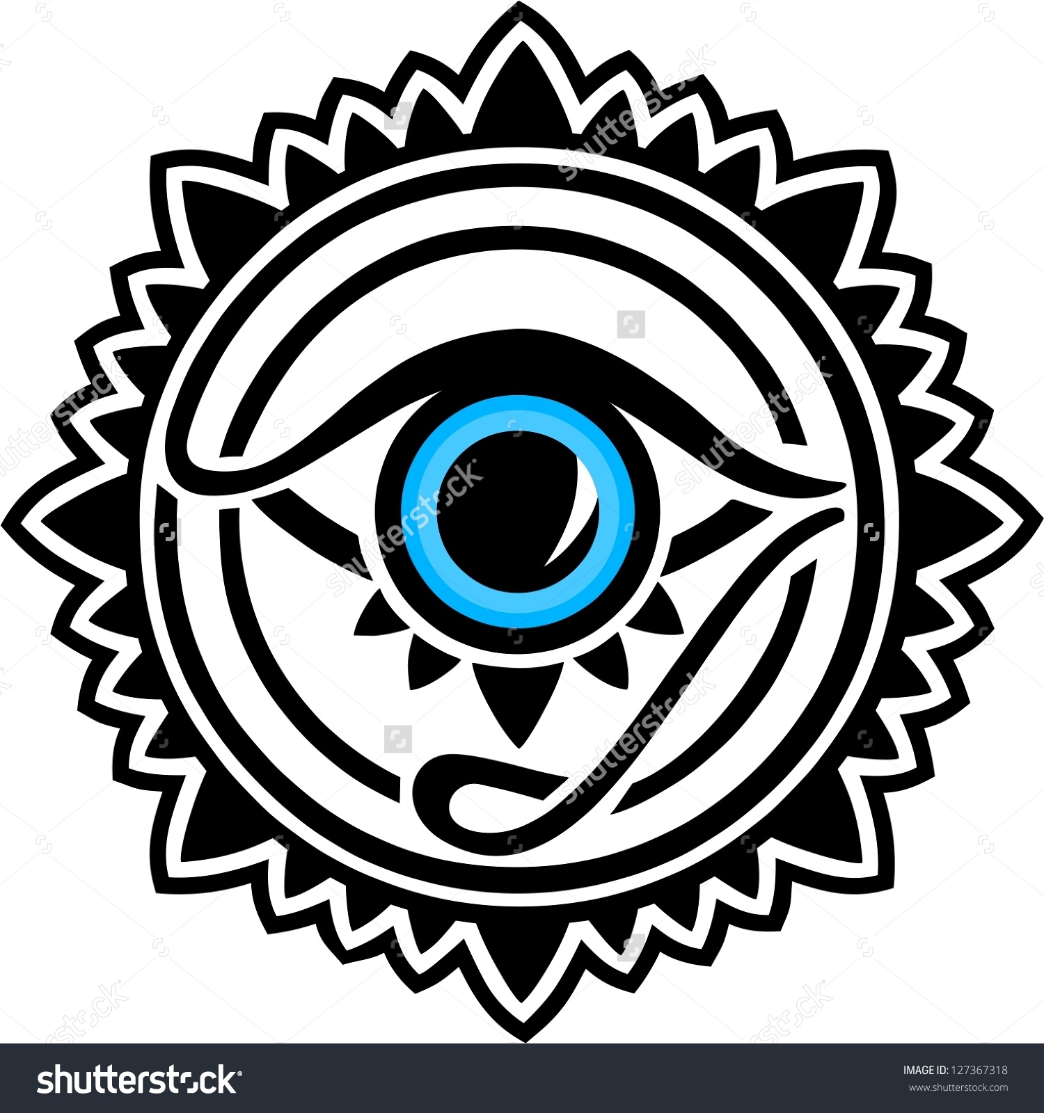 Nazar Protection Amulet Eye Providence All Stock Vector 127367318.