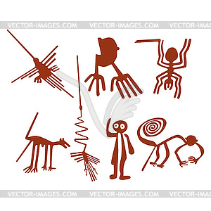 Nazca lines clipart.