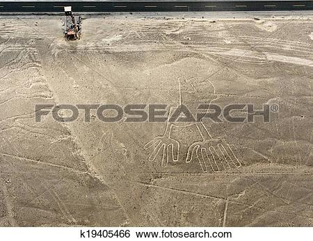 Stock Images of Nazca Lines Hands k19405466.