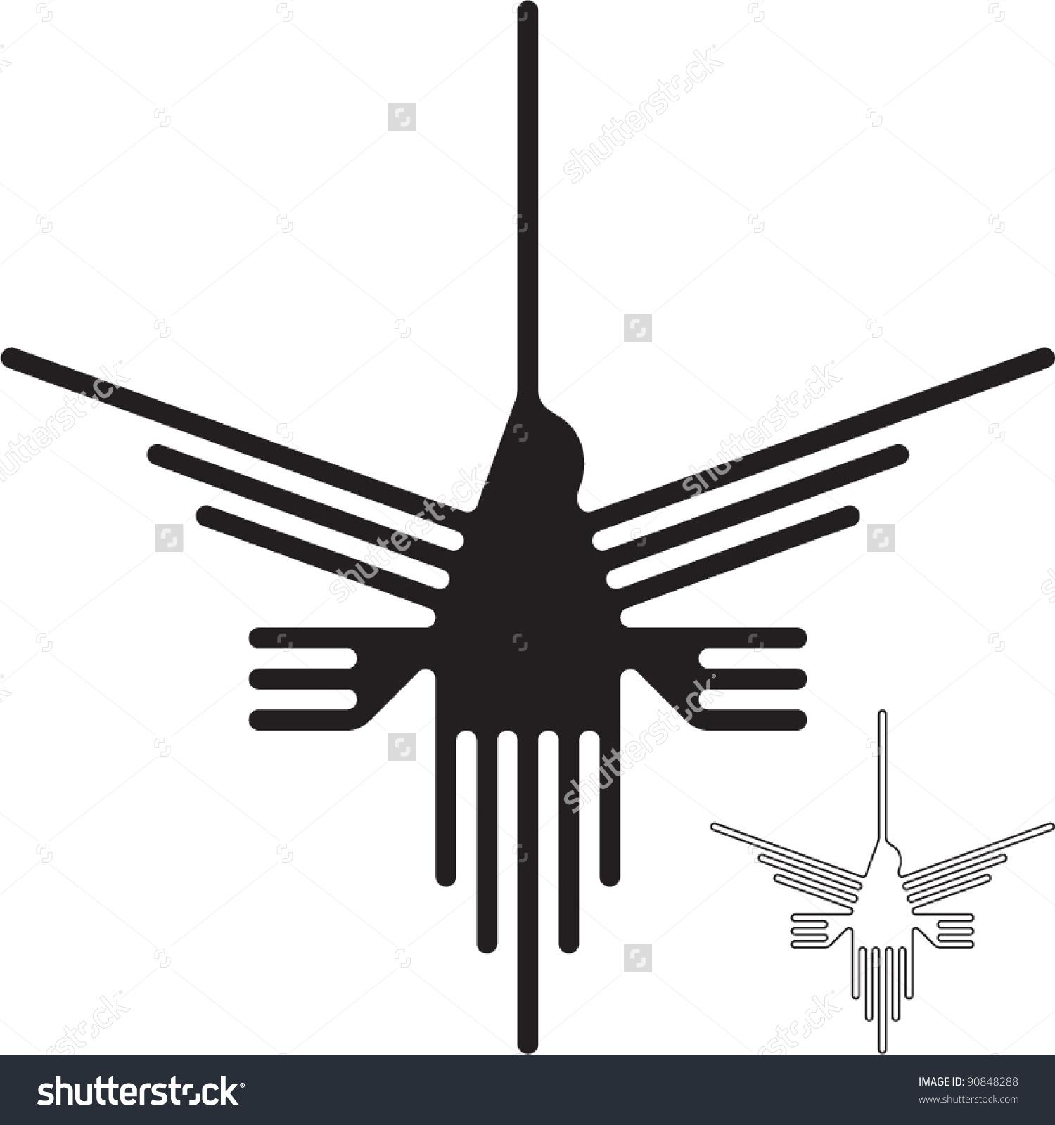 Nazca Lines Hummingbird Stock Vector 90848288.