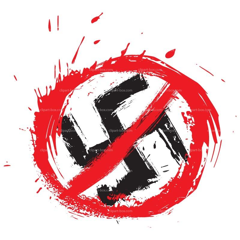 CLIPART NO NAZI SYMBOL GRUNGE SYLE.