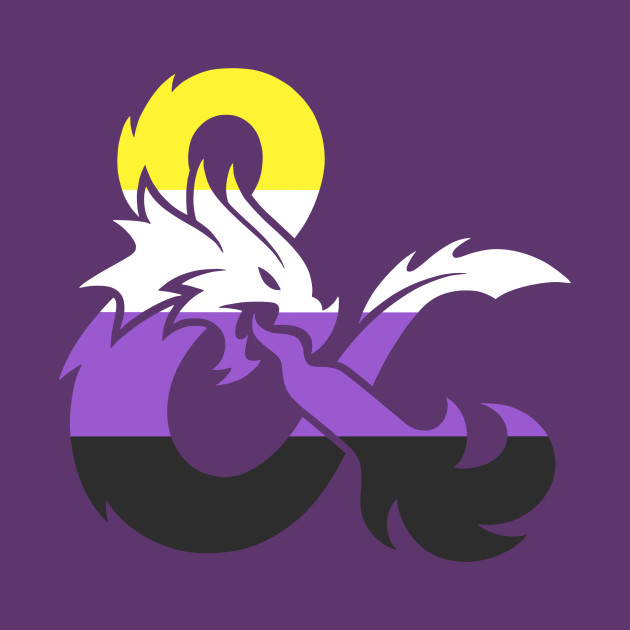 Nonbinary Dungeons and Dragons Logo.