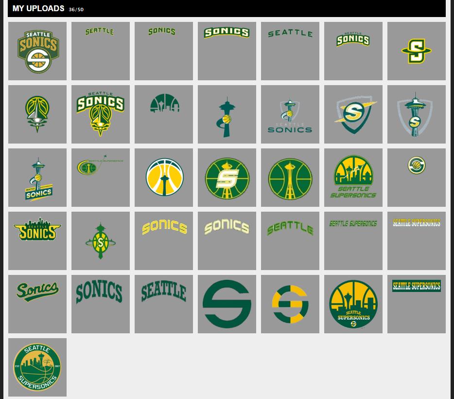 New Seattle SuperSonics Logo Uploads (PS4 only) : NBA2k.