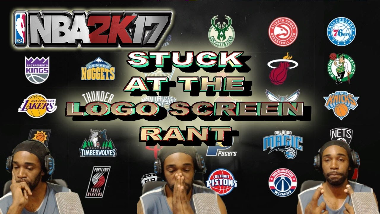 HOW I GOT FROZE AT NBA 2K17 LOGO SCREEN THEN FIXED IT RANT.