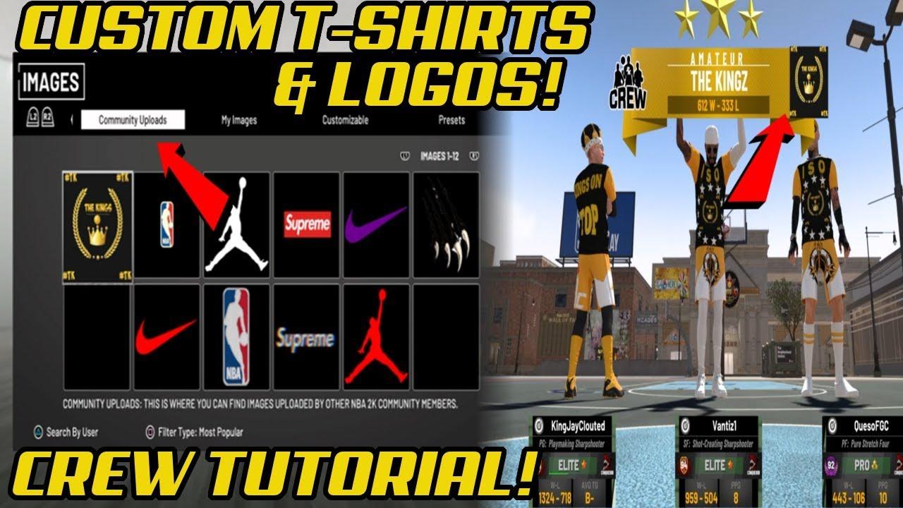NBA 2K19 CUSTOM CREW SHIRTS HOW TO GET CUSTOM T.