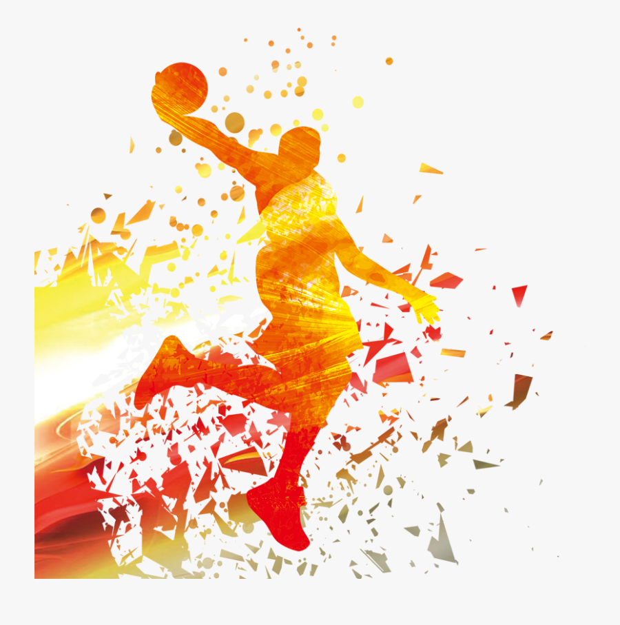 Player Nba Basketball Silhouette Download Hq Png Clipart.