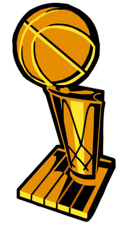 Brooklyn Nets Trophy Case.