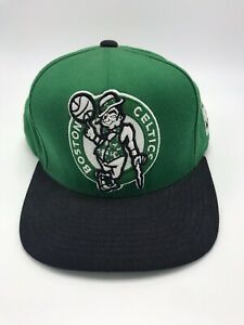 Details about Boston Celtics Mitchell & Ness NBA Logo SnapBack Hat.