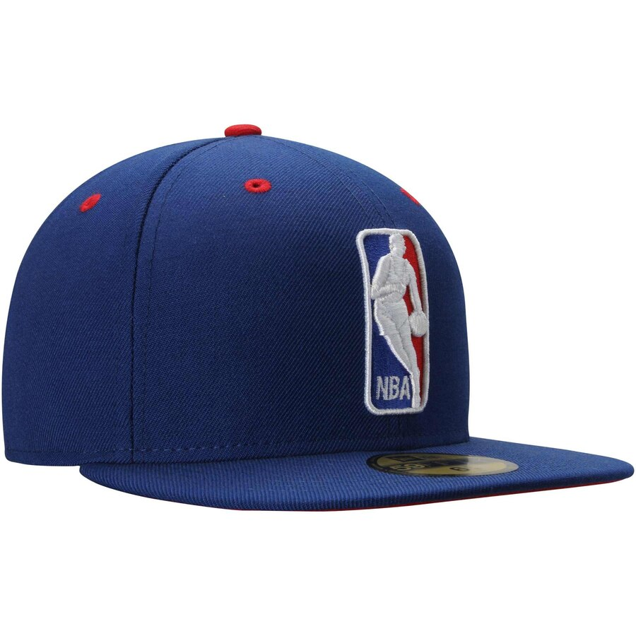 New Era NBA Logo Royal Blue Current Logo 59FIFTY Fitted Hat.