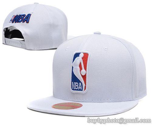 NBA Snapback Hats NBA Logo Snapback All White.