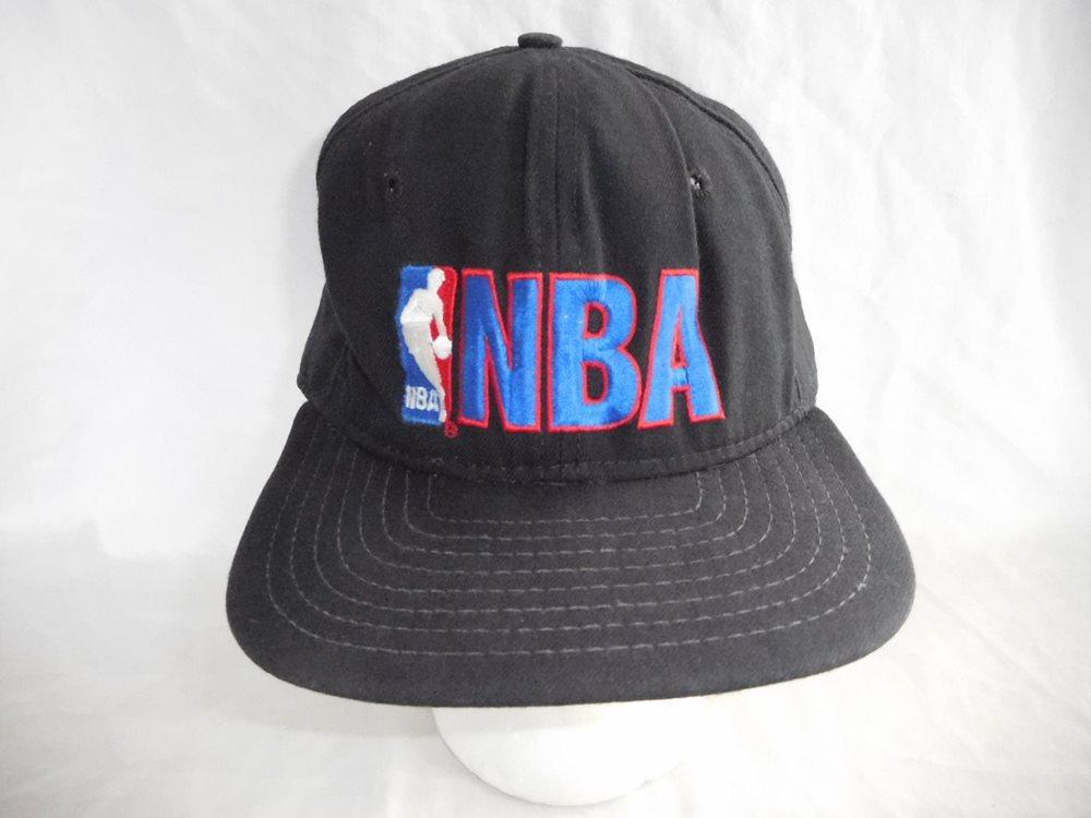 Vintage NBA Logo Jerry West Baseball Cap Hat Snapback New Era Pro Model.