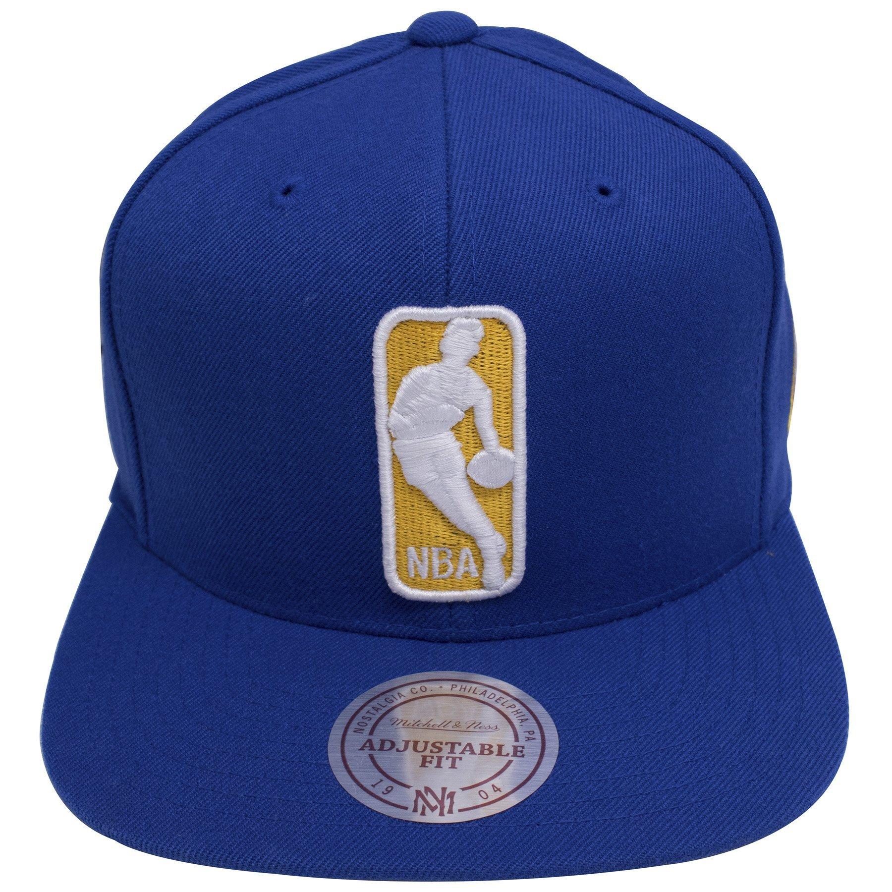 Golden State Warriors NBA Logo Team Colorway Blue Snapback Hat.