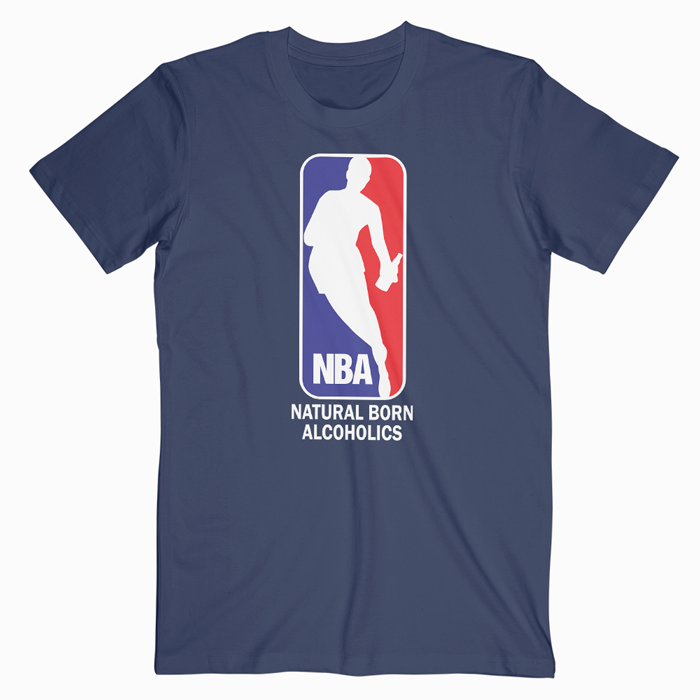 Funny Nba Logo T Shirt Available In Size XS,S,M,L,XL,2XL,3XL.