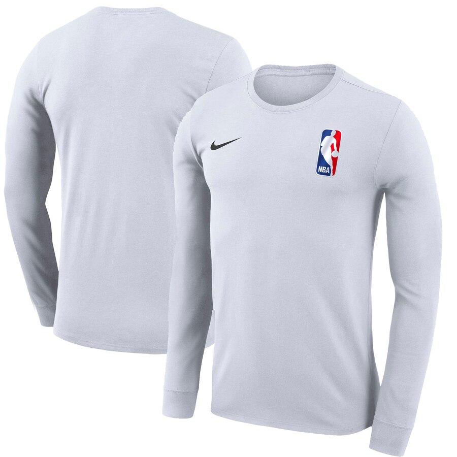 Men\'s NBA Logo Nike White Team 31 Long Sleeve T.