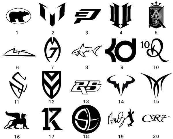 basketball players shoe logos and names.