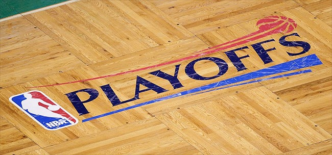 No Playoff Logo On Court.