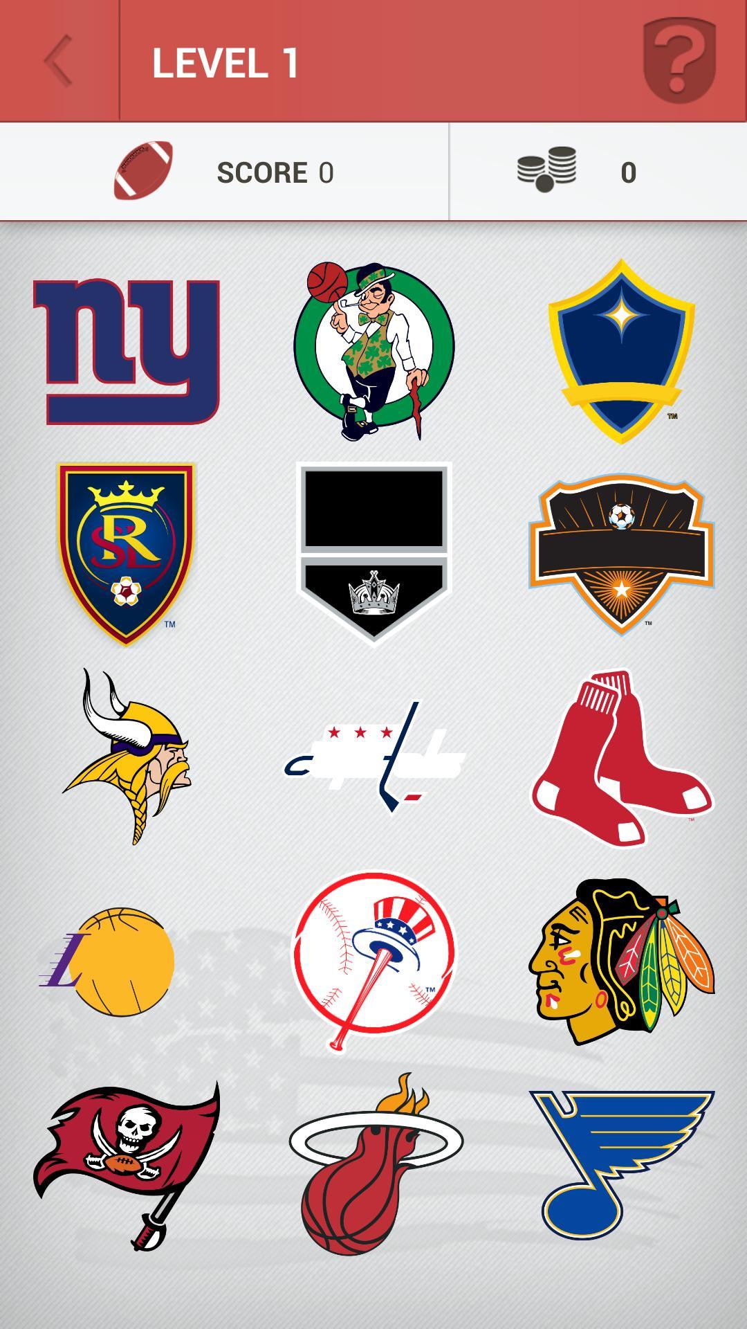 Logo Quiz NHL NFL MLB NBA for Android.